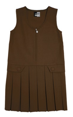 St Francis Brown Pinafore
